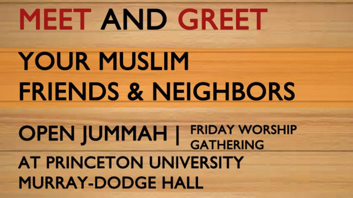 Meet and Greet, Open Jummah